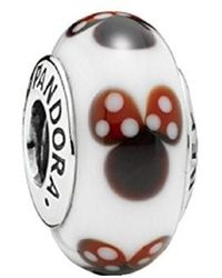 PANDORA - Qinger Disney Classic Minnie Murano Glass For Bracelet Beads 791634 - Lyst