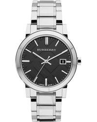 Burberry - Bu9001 / Silver Stainless Steel Analog Quartz Watch - Lyst