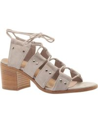 Comfortiva Riley Ghillie Lace Sandal(Women's) -Gold Metallic Leather Clearance Great Deals om6xSQfjb