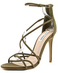 ab551106f96 Lyst - Steve Madden Kanzley Women Open Toe Leather Tan Sandals