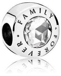 PANDORA - Family Forever Charm 791884cz - Lyst