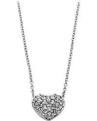 Swarovski - Pave Crystal Heart Pendant 1809006 - Lyst