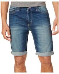 Calvin Klein - Faded Casual Denim Shorts - Lyst
