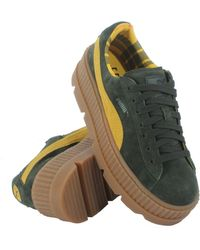 32bd54e3351e Lyst - PUMA Cleated Creeper Suede Platform Sneakers in Gray for Men