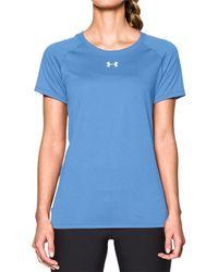 dafdec71690e Lyst - Under Armour Strike Tech Locker Short Sleeve T-shirt in Pink