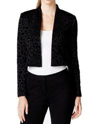 Calvin Klein - Velvet-flocked Scuba Open Blazer - Lyst
