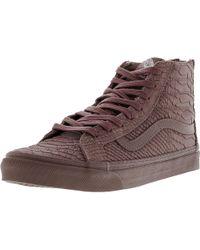 6aa37b183e Vans - Sk8-hi Slim Zip Dx Mono Python High-top Skateboarding Shoe -