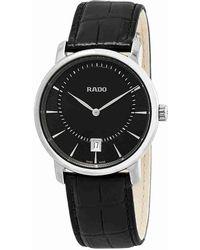 Rado - Diamaster Quartz Black Dial Ceramic Watch R14135156 - Lyst