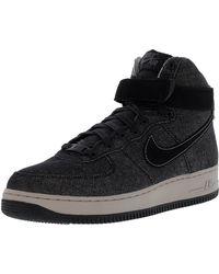 e8a559839700 Nike - Air Force 1 Hi Se Black   Dark Grey Cobblestone High-top Leather
