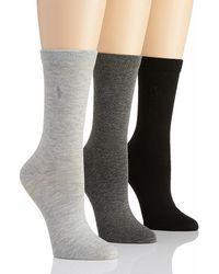 Polo Ralph Lauren - Blue Label 7125 Rl Sport Trouser Sock - 3 Pair Pack - Lyst