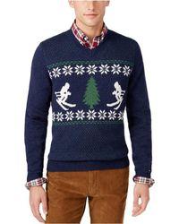 afd237f5b8e5 Lyst - Tommy Hilfiger Adler Shawl Collar Sweater in Black for Men