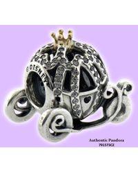 PANDORA - Two Tone Cinderella's Pumpkin Coach Ladies Charm 791573cz - Lyst