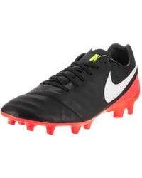 Nike - Tiempo Mystic V Fg Black white Hyper Orange Volt Soccer Cleat 7 Men d097efafc