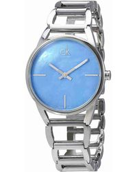 1e182902bcc08 Calvin Klein - Stately Blue Mother Of Pearl Dial Ladies Watch K3g2312n -  Lyst