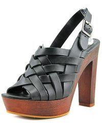 Vince Camuto - Elyza Open-toe Leather Slingback Heel - Lyst