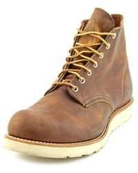 "Red Wing - 6"" Classic Round Boot Men Round Toe Leather Brown Work Boot - Lyst"