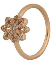 PANDORA - Lace Botanique 14k Gold Ring 150182cz - Lyst
