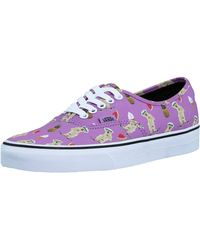0867a391200 Vans - Authentic Pool Vibes African Violet Ankle-high Canvas Skateboarding  Shoe - 8.5m