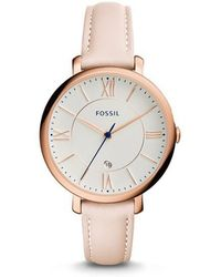 Fossil | Jacqueline White Dial Ladies Casual Watch Es3988 | Lyst