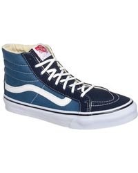 fe003e66c76bf Vans - Sk8-hi Slim Women Us 6 Blue Sneakers Uk 3.5 Eu 36 -