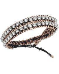 Swarovski - Venetie Double Bracelet Rose Gold-plated - 5019116 - Lyst