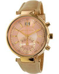 Michael Kors - Sawyer Chronograph Rose Dial Ladies Watch Mk2529 - Lyst