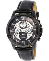 Fossil - Me3028 Grant Leather Watch - Lyst