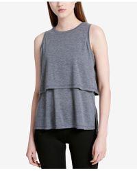 35e699e00093e Lyst - Calvin Klein Womens Pattern Sleeveless Tank Top in Black