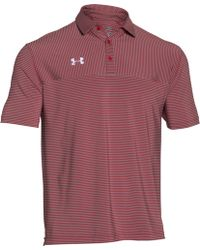 Under Armour - Clubhouse Striped Polo Golf Shirt - Lyst