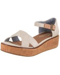 75a5621c8d7ff9 TOMS - Harper Wedge Natural Yarn Dye Sandal 9 Women Us - Lyst