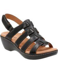 Clarks   Women's Delana Maloren Flat Sandals   Lyst