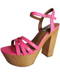 8cd9df487d02 Steve Madden - Womens Jupetir Platform Chunky Heel Sandal Shoe - Lyst