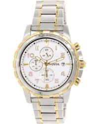 Fossil - Fs4795 Dean Stainless Steel Watch - Lyst