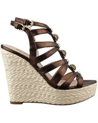 Guess - Onixx Metallic Caged Wedges - Lyst