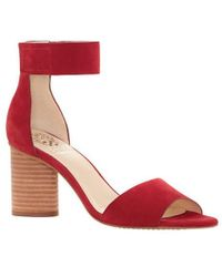 Vince Camuto - Jacon Nubuck Banded Ankle Strap Circular Heel Sandals - Lyst