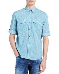 CALVIN KLEIN 205W39NYC - Roll Tab Button Up Shirt Blue L - Lyst
