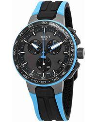 Tissot - T-race Cycling Chronograph Black Dial Watch T111.417.37.441.05 - Lyst