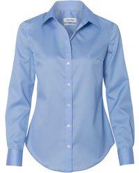 CALVIN KLEIN 205W39NYC - 13ck034 Non-iron Micro Pincord Long Sleeve Shirt - Lyst
