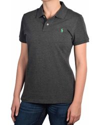 Polo Ralph Lauren - Classic Fit Mesh Polo Shirt-dark Grey-x-small - Lyst