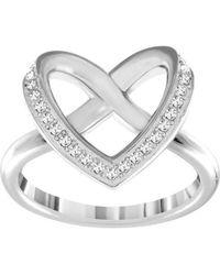 Swarovski - Cupidon Rhodium-tone Crystal Ring - Lyst
