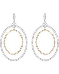 Swarovski - Gilberte Hoop Pierced Earrings - White - 5278287 - Lyst