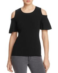 CALVIN KLEIN 205W39NYC - Cold Shoulder Stretch Pullover Top - Lyst