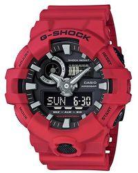 G-Shock - G-shock Ga700-4a / Red Resin Analog/digital Quartz Watch - Lyst