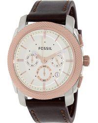 Fossil - Machine Fs5040 White Dial Watch - Lyst
