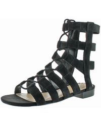 Vince Camuto - Helayn Suede Open Toe Ghillie Caged Sandals Shoes - Lyst