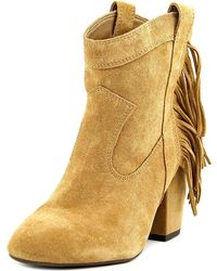 Jessica Simpson - Wyoming Women Round Toe Suede Brown Ankle Boot - Lyst