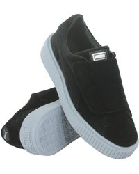 dbc057bbf70 PUMA - Women s Basket Platform Strap Velvet Rope Casual Sneakers From Finish  Line - Lyst
