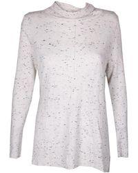 Calvin Klein - Marled Seamed Turtleneck Sweater M - Lyst