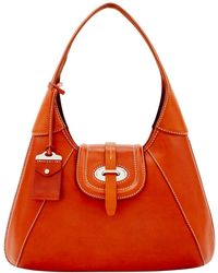 Dooney & Bourke - Florentine Toscana Front Stitch Hobo Shoulder Bag - Lyst