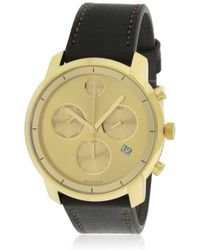 Movado - Bold Leather Chronograph Watch 3600477 - Lyst